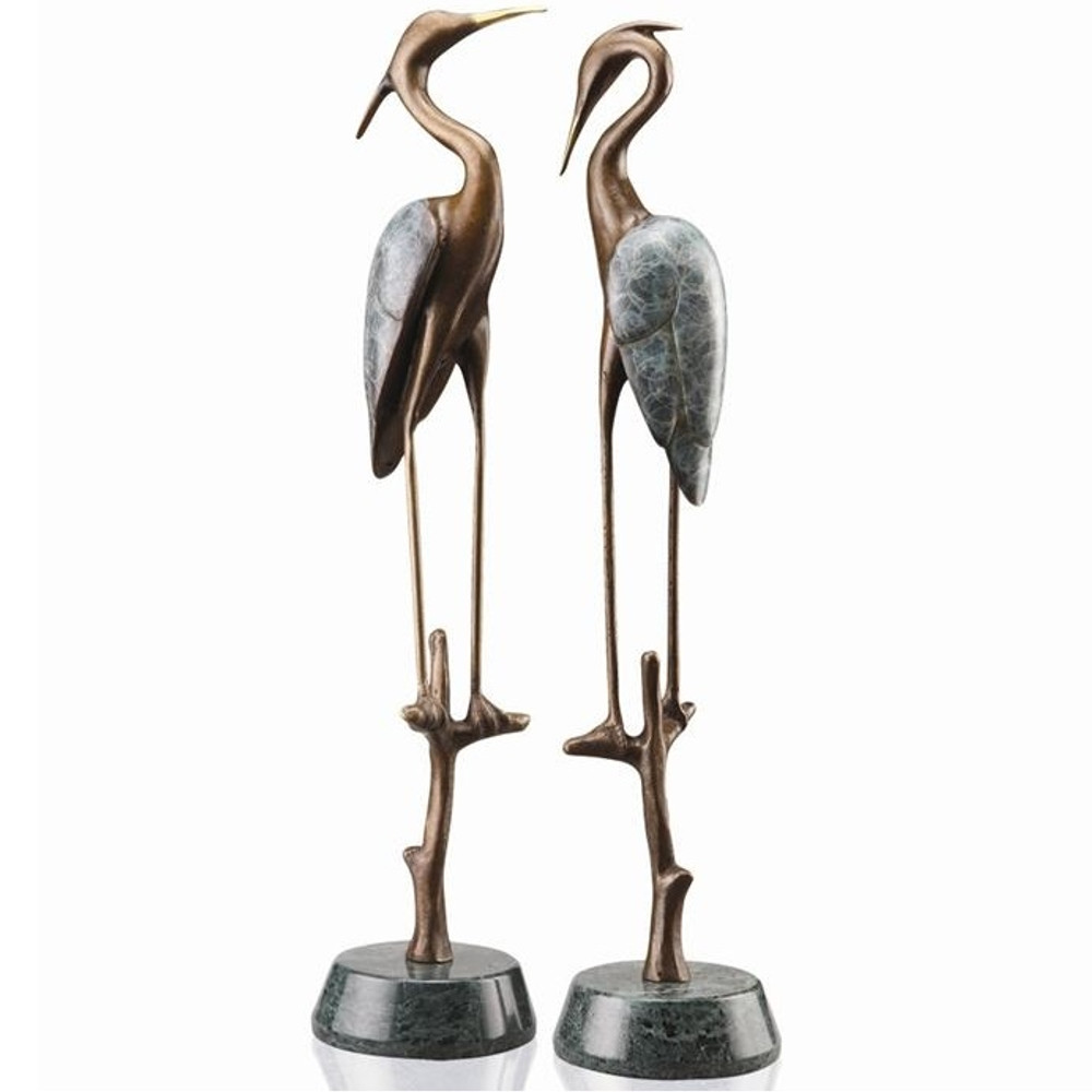 Wetlands Heron Pair Sculptures | 80154 | SPI Home