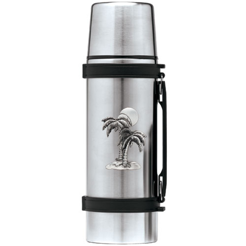 Palm Tree Thermos   Heritage Pewter   HPITHS4216