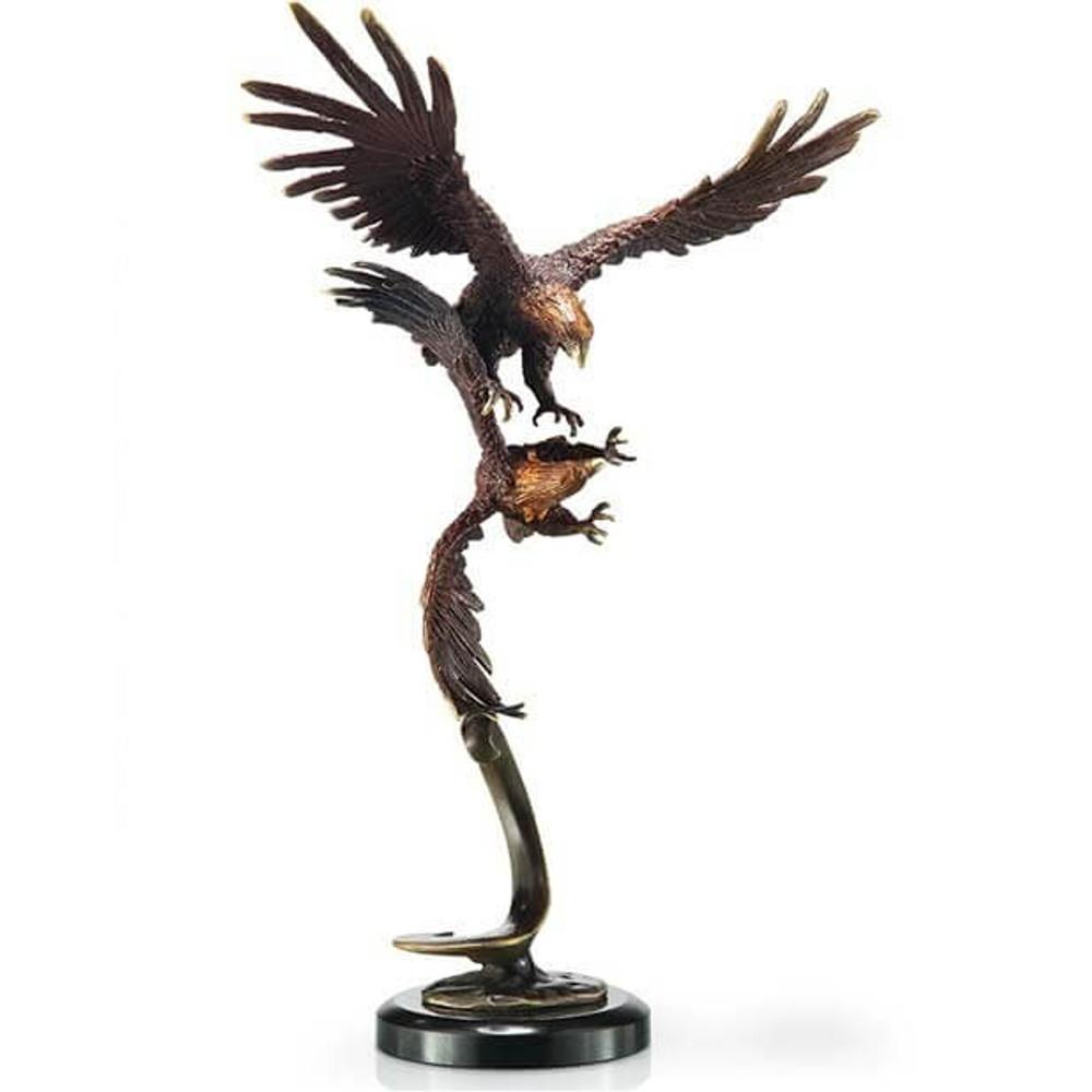 Eagles Double Flying Sculpture | 80235 | SPI Home