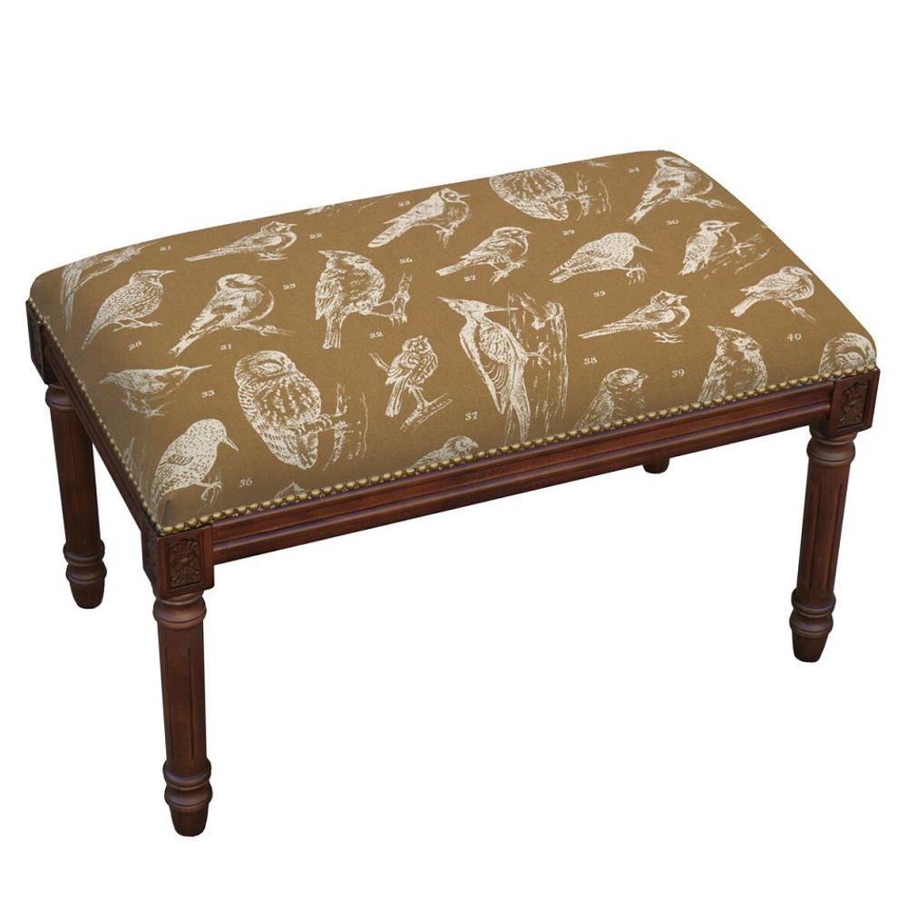 Bird Watch Bench | Upholstered Bird Bench | CS062BC-CA