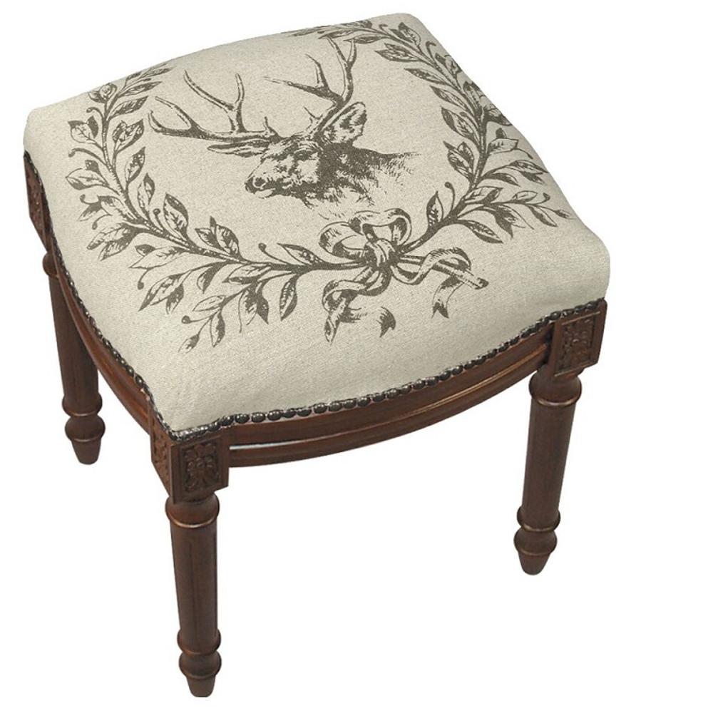 Elk Upholstered Vanity Stool | Elk Vanity Stool | CS038FS-GY