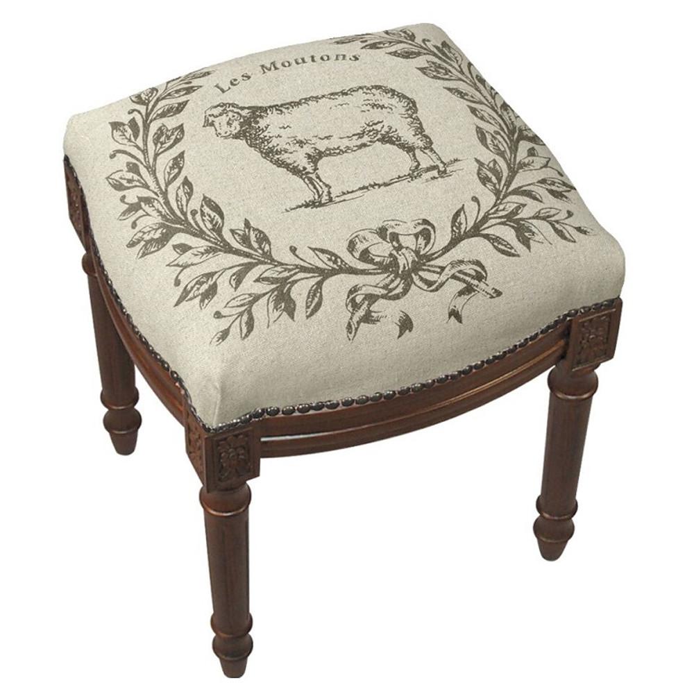 Sheep Upholstered Vanity Stool | Sheep Vanity Stool | CS041FS-GY