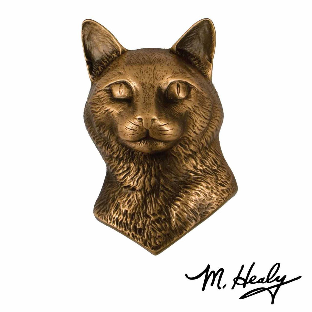 Cat Bronze Door Knocker | MHCAT01 | Michael Healy