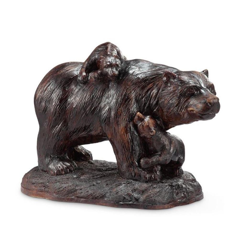 Bear and Cubs Playtime Garden Sculpture | 50869 | SPI Home