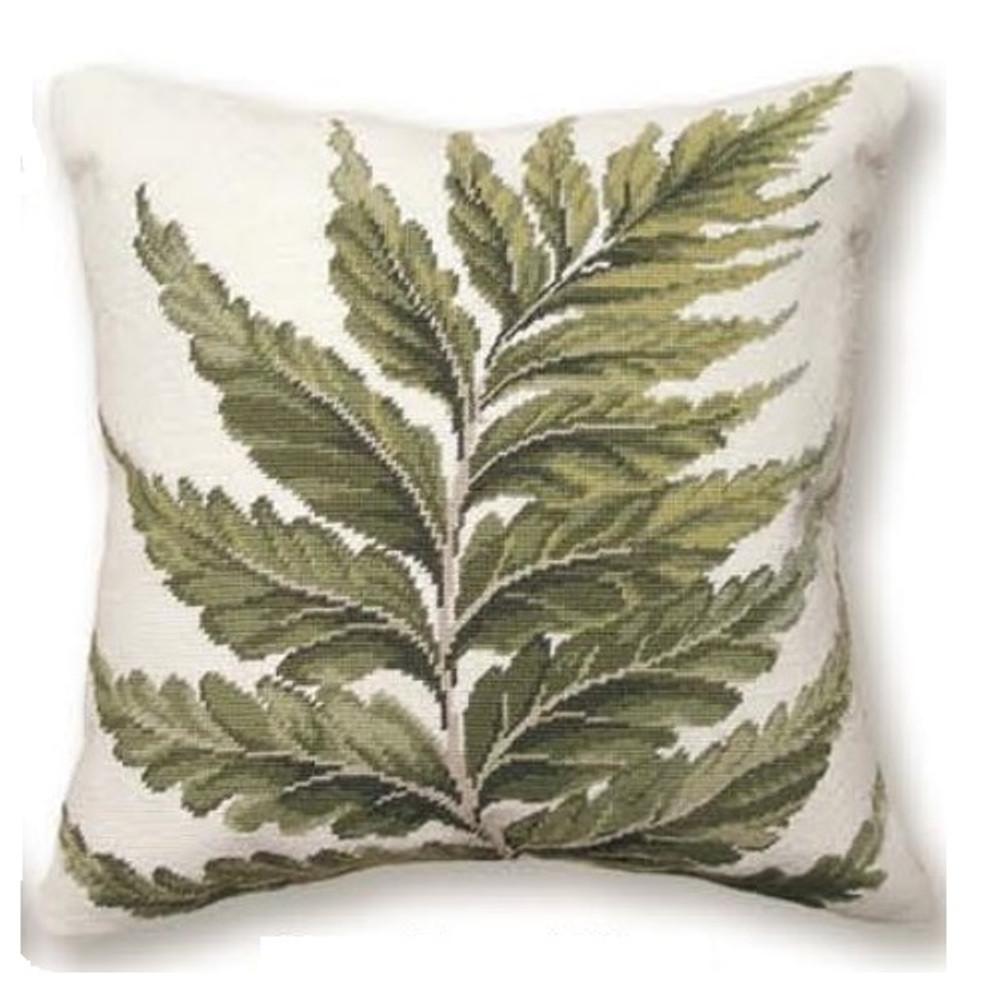 Fern Needlepoint Pillow | Fern Needlepoint Pillow | C819.18x18