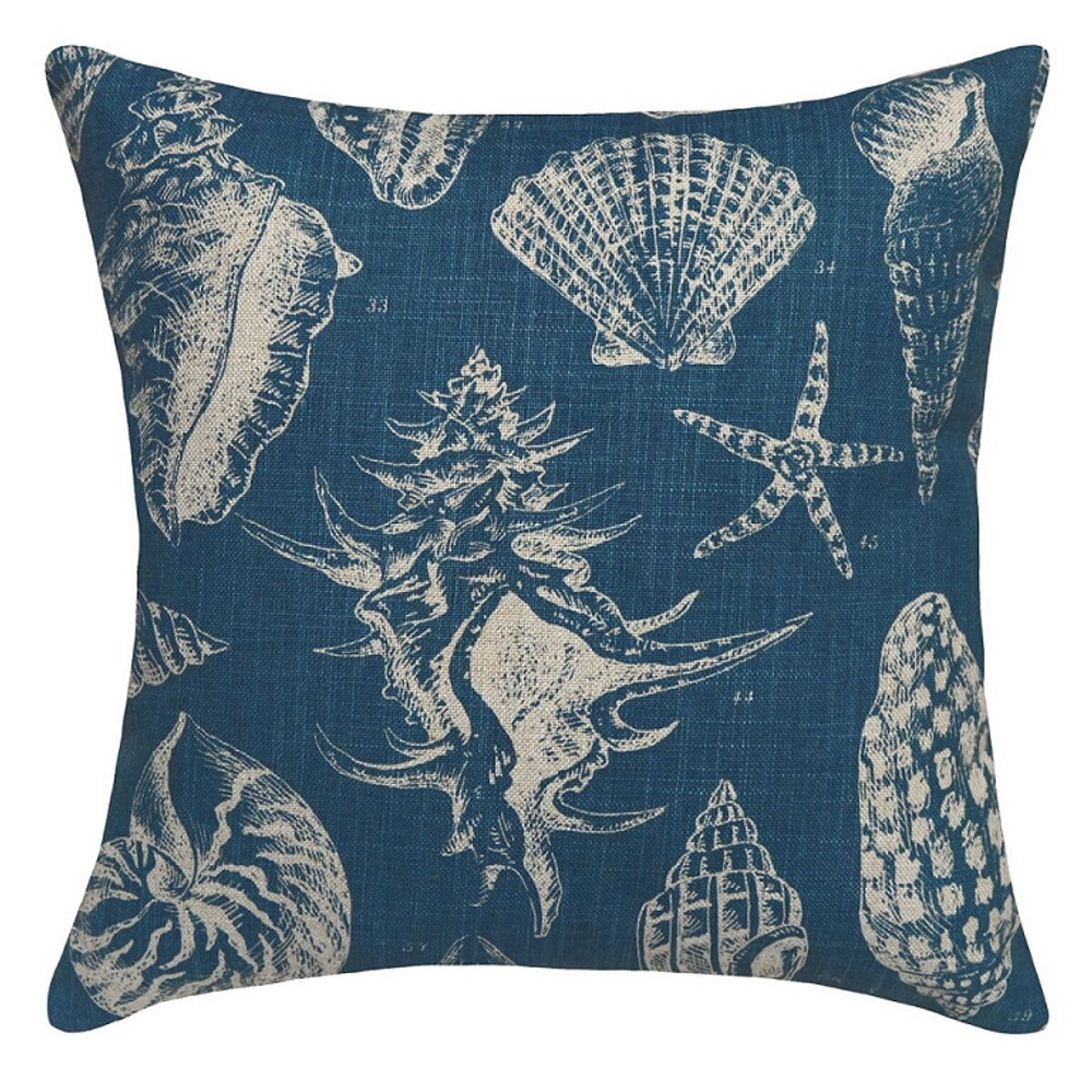 Sea Shell Upholstered Pillow | Shell Pillow | CS020P-NY.20x20