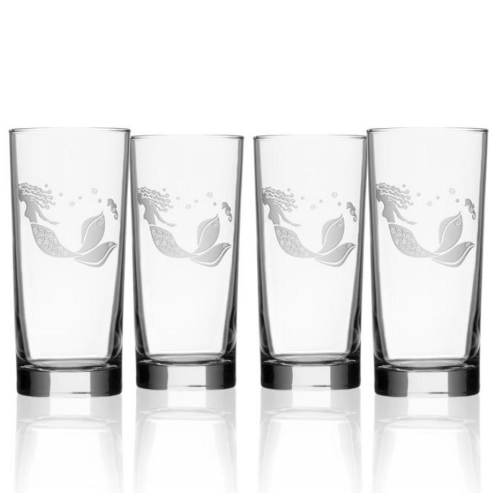 Mermaid Iced Tea Glass Set of 4   Rolf Glass   268019