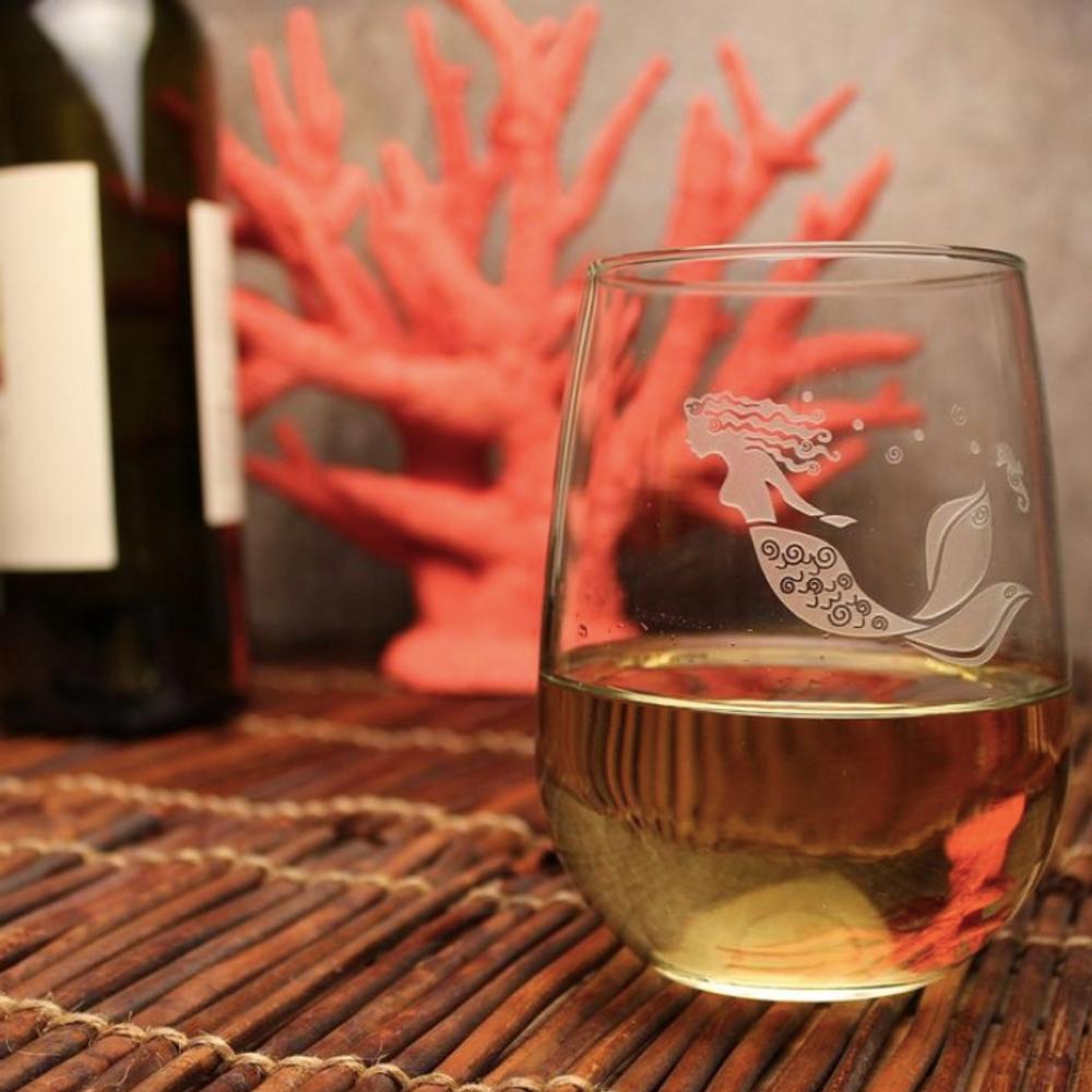 Mermaid Wine Tumbler Set of 4   Rolf Glass   268330