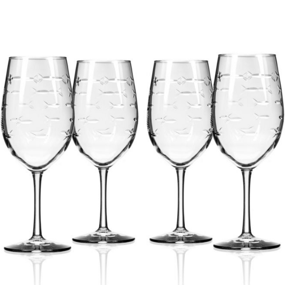 Fish 18 oz Wine Glass Set of 4   Rolf Glass   600260