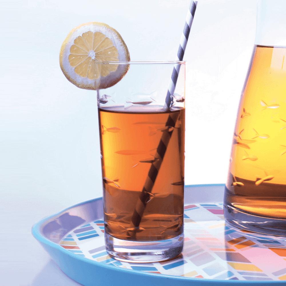 Fish Iced Tea Glasses Set of 4   Rolf Glass   600017