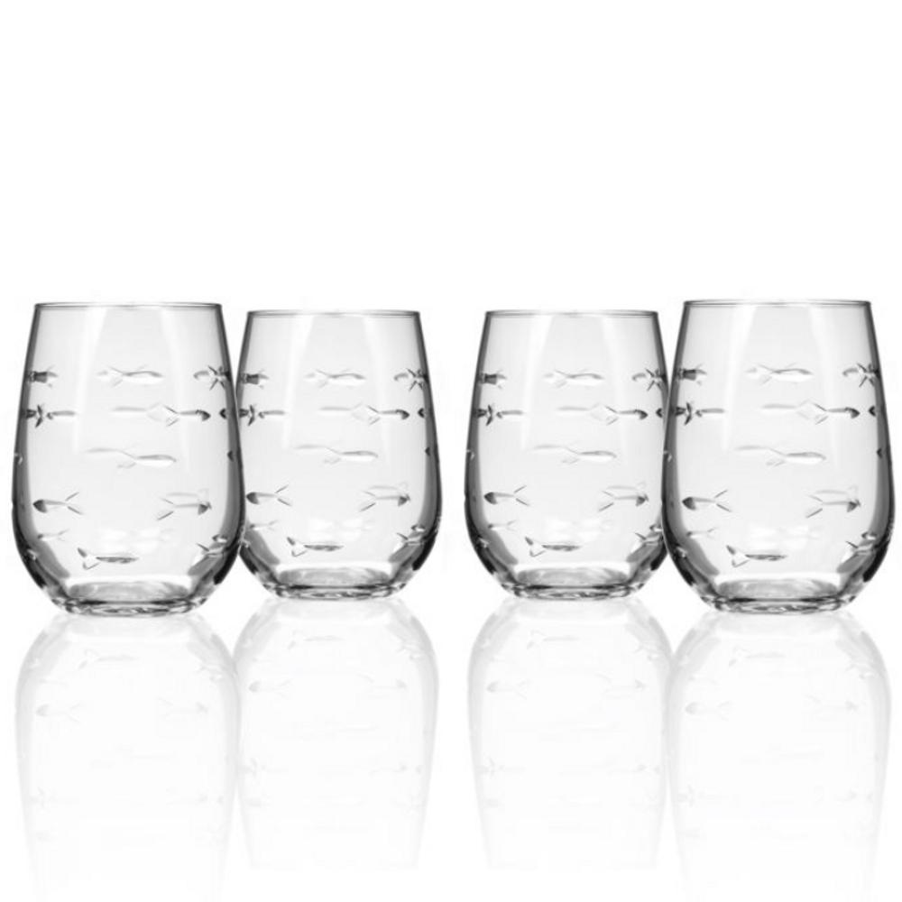 Fish Wine Tumbler Set of 4 | Rolf Glass | 600338