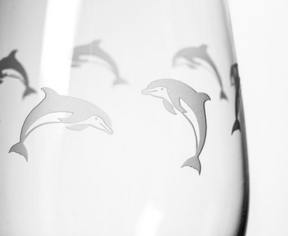 Dolphin 18 oz Wine Glass Set of 4 | Rolf Glass | 340265