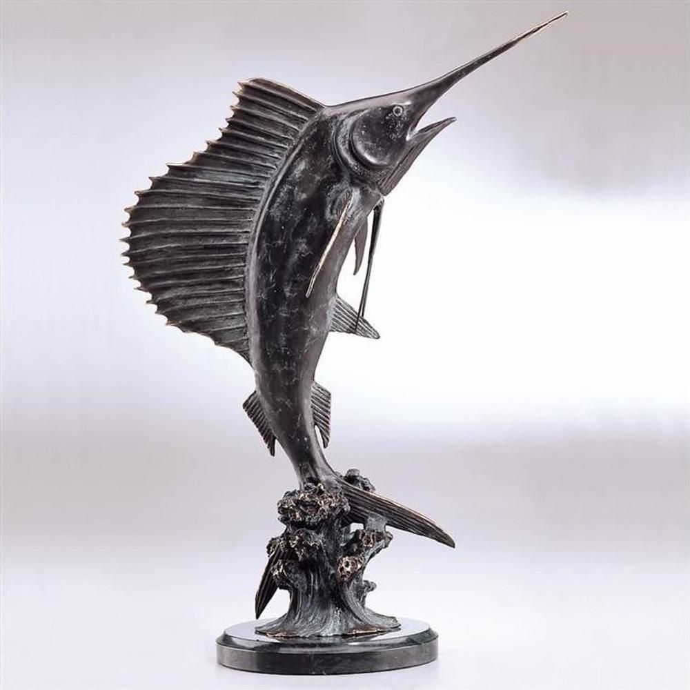 Sailfish Tail Walker Sculpture | 30817 | SPI Home -2