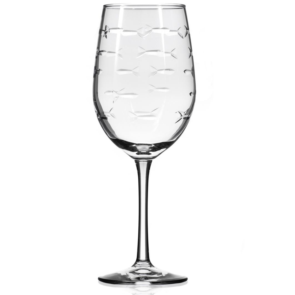 Fish 12 oz White Wine Glass Set of 4 | Rolf Glass | 600420