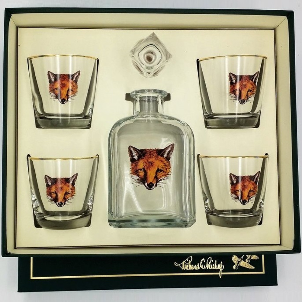 "Fox Decanter Set ""Fox Mask"""