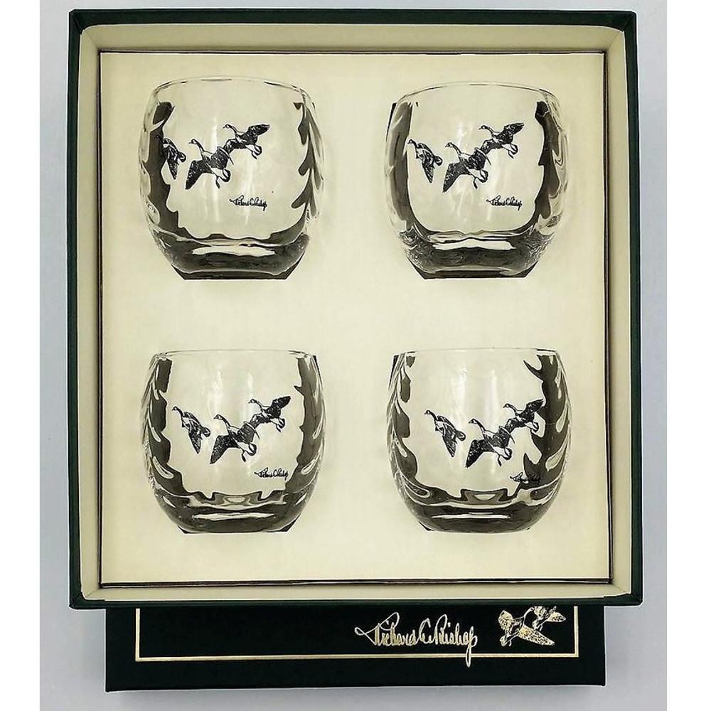 "Duck Optic Cocktail Glass Set   ""Third Federal Duck Stamp""   Richard Bishop   3028THI"