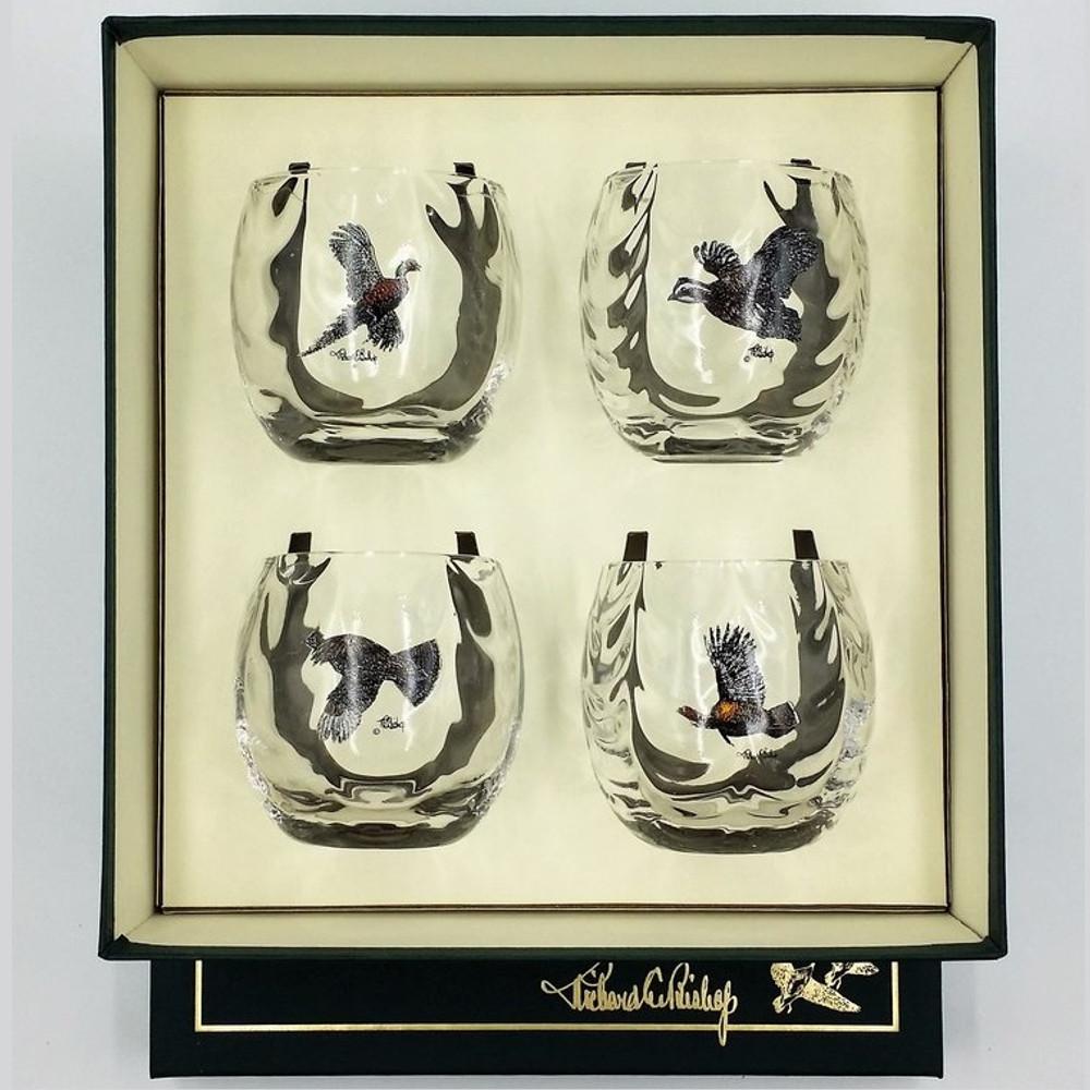 "Bird Optic Cocktail Glass Set | ""Gamebirds"" | Richard Bishop | 3028GAM"