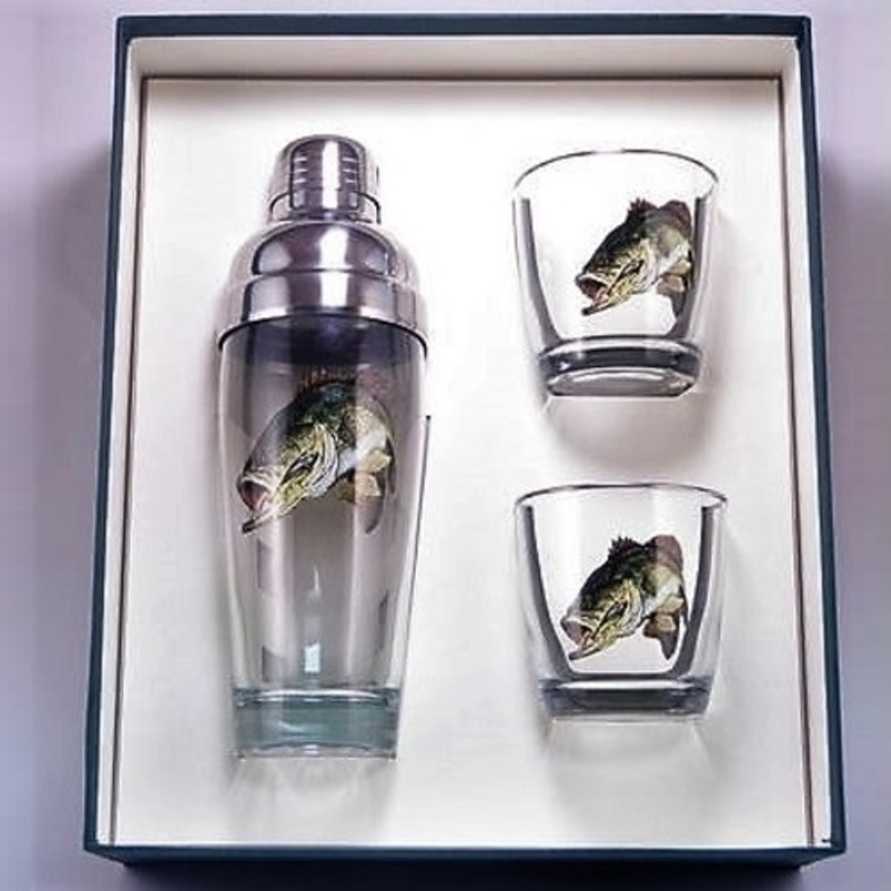 Bass Fish Cocktail Shaker Set | Richard Bishop | 2037BAS