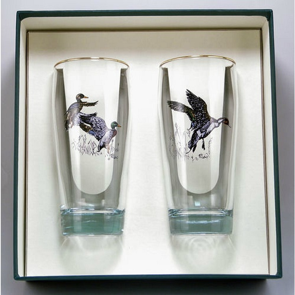 "Duck Beer Glass Set | ""Waterfowl"" 