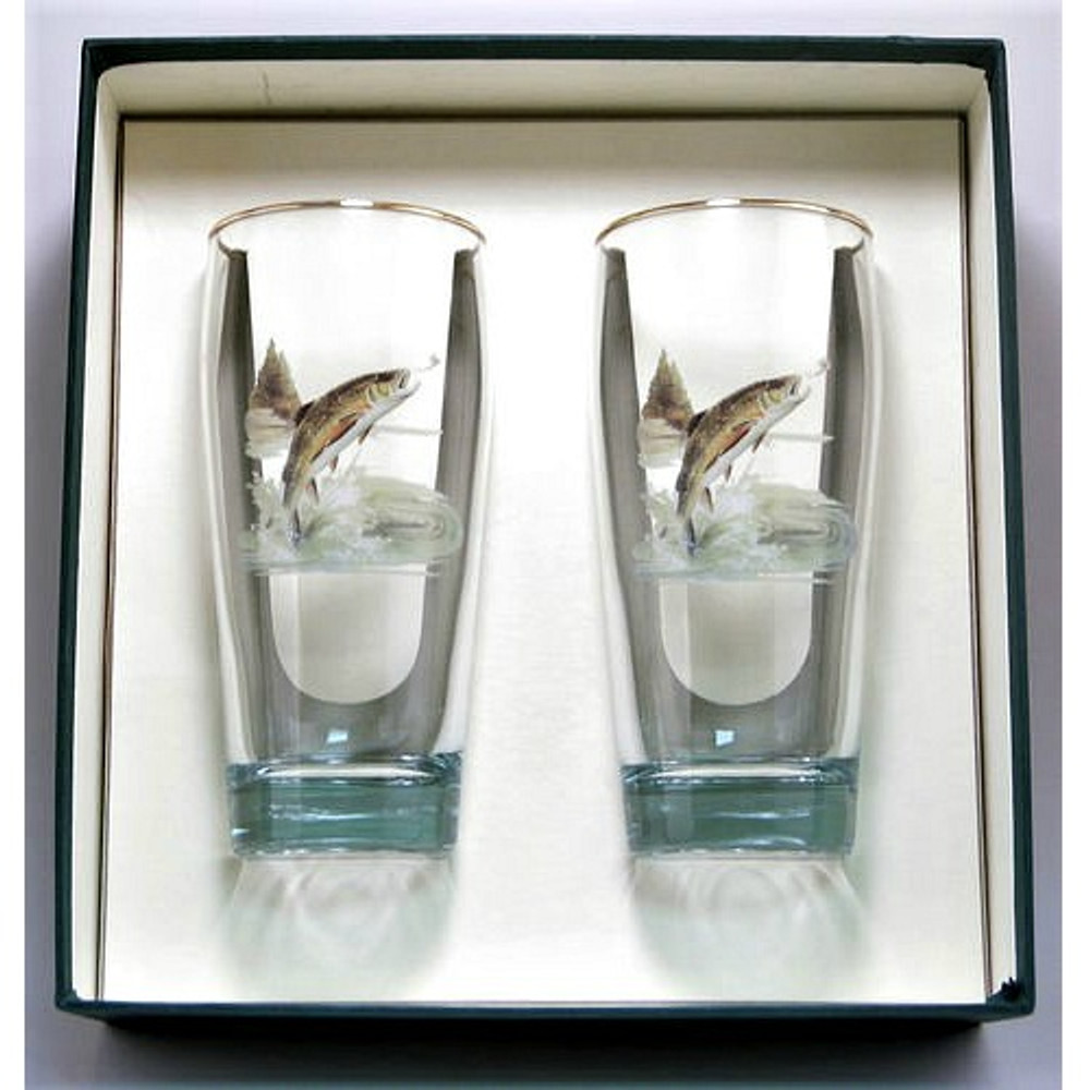 Trout Fish Beer Glass Set | Richard Bishop | 2043TRO