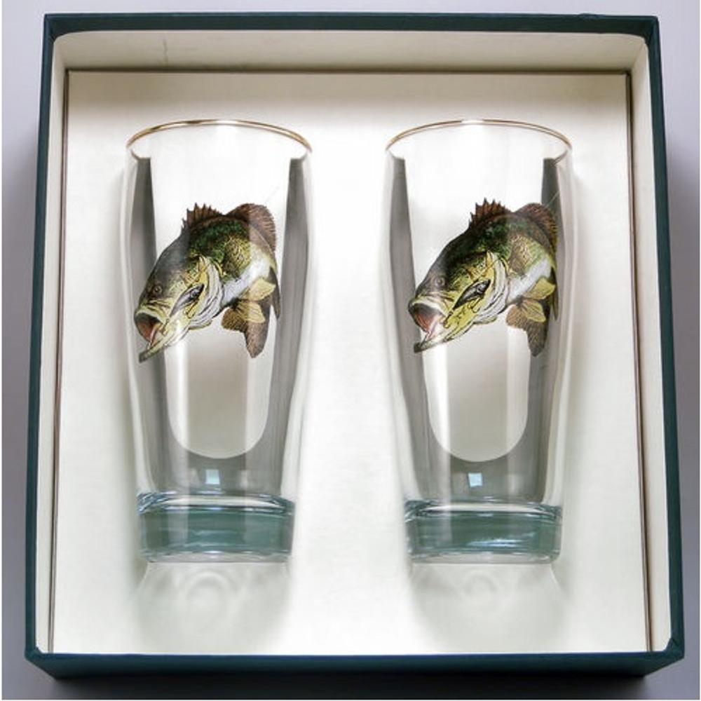 Bass Fish Beer Glass Set | Richard Bishop | 2043BAS