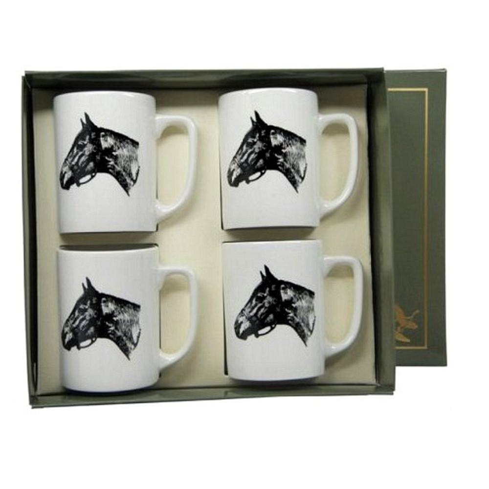 "Horse Porcelain Coffee Mug Set | ""Seabiscuit"" | Richard Bishop | 5034SEA"