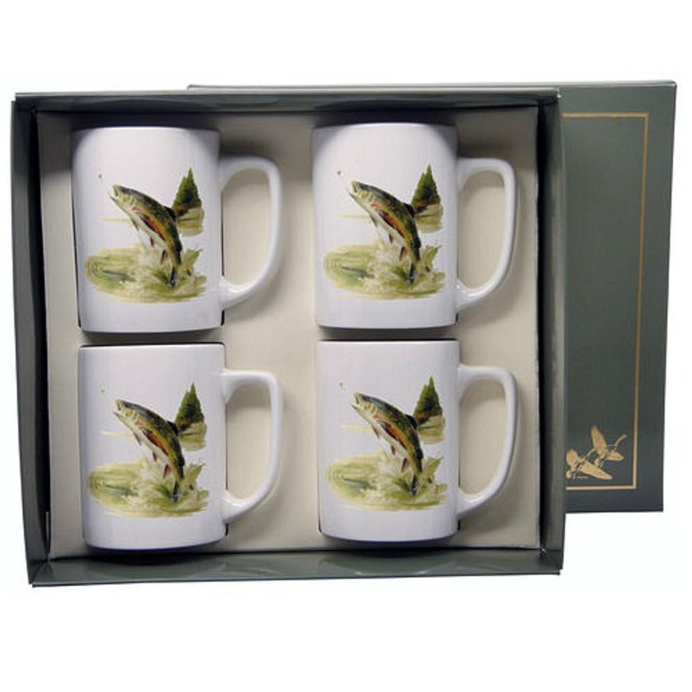 Trout Fish Porcelain Coffee Mug Set   Richard Bishop   5034TRO