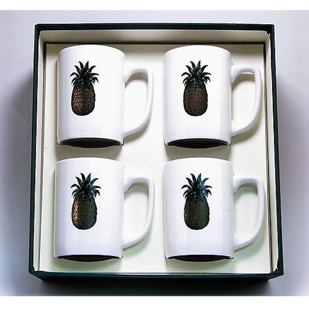 Pineapple Porcelain Coffee Mug Set | Richard Bishop | 5034PIN