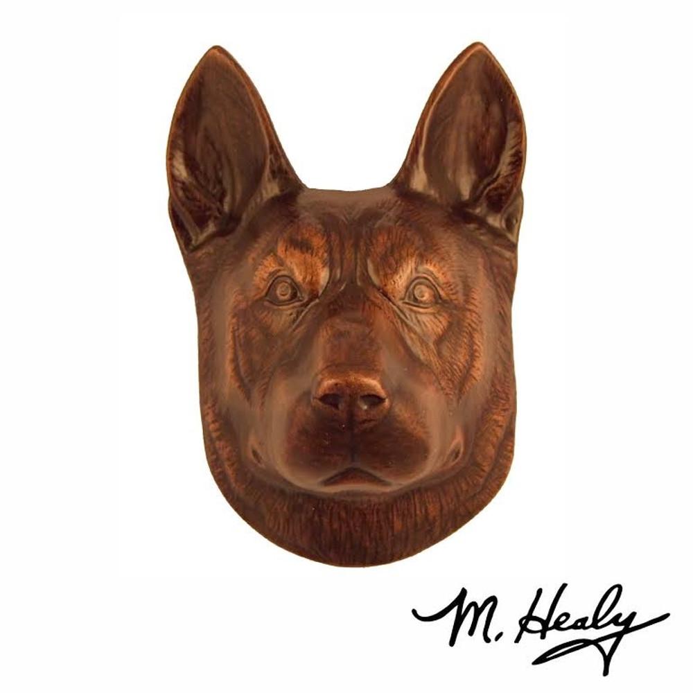 German Shepherd Dog Aluminum Door Knocker   MHCDOG05   Michael Healy