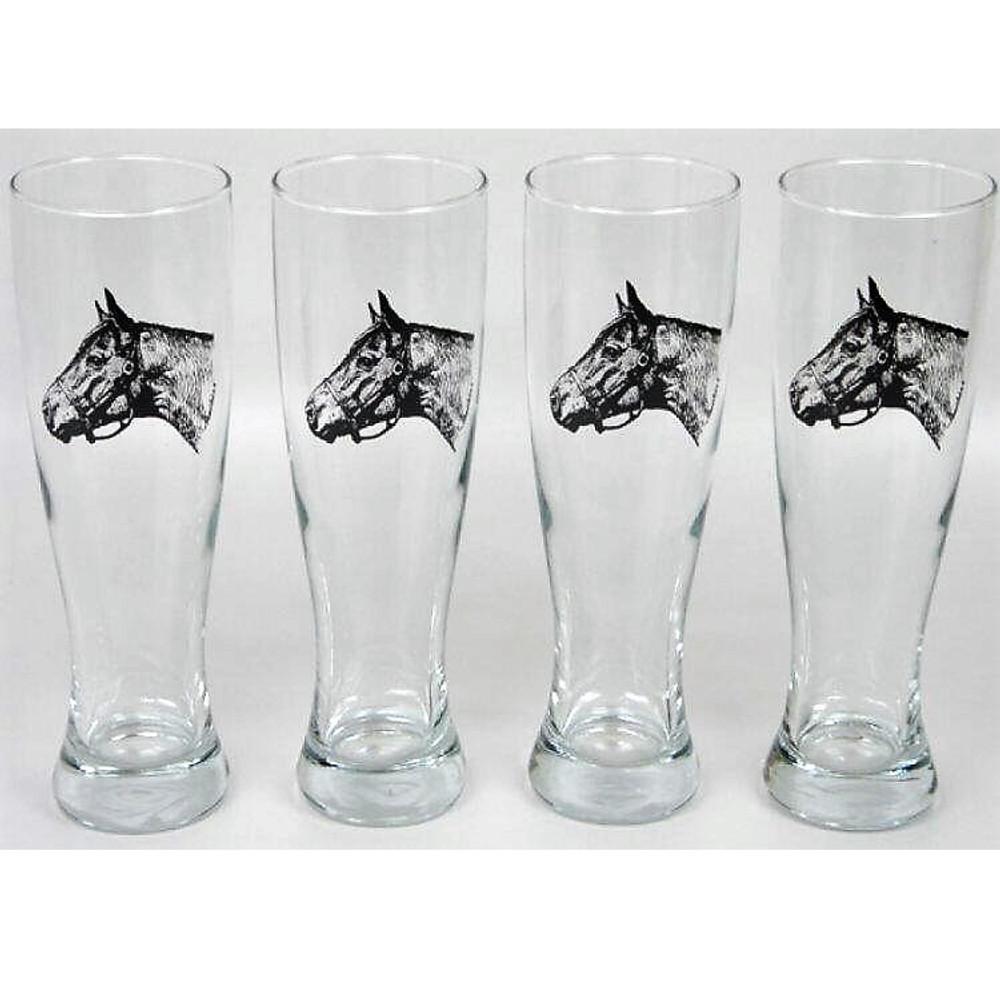 Horse Pilsner Glass Set   Seabiscuit   Richard Bishop   2041SEA