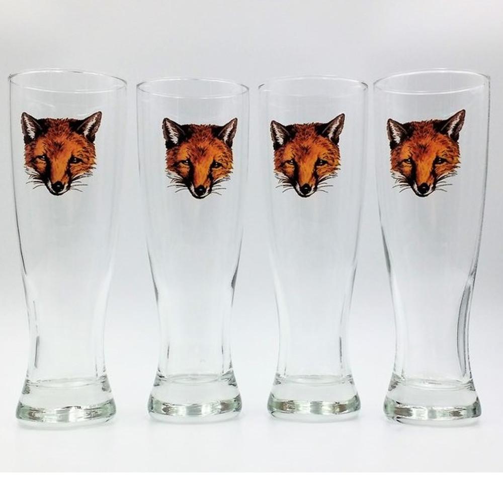 Fox Pilsner Glass Set | Fox Mask | Richard Bishop | 2041FOX