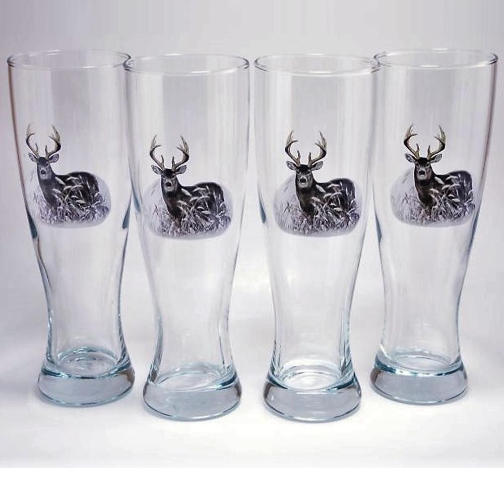 Deer Pilsner Glass Set | Richard Bishop | 2041DEE
