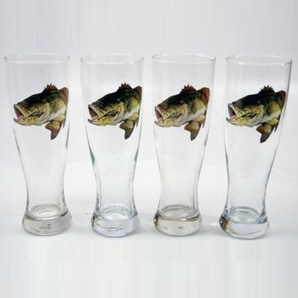 Bass Fish Pilsner Glass Set | Richard Bishop | 2041BAS
