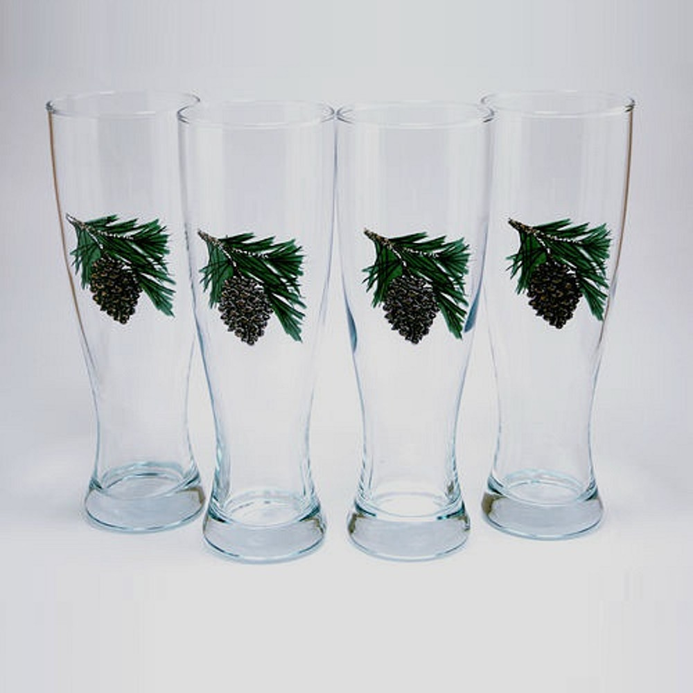 Pine Cone Pilsner Glass Set | Richard Bishop | 2041PCO