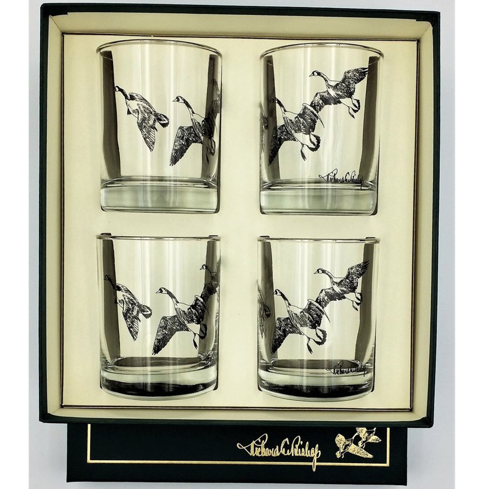 Duck Double Old Fashioned Glass Set | Third Federal Duck Stamp | Richard Bishop | 2026THI