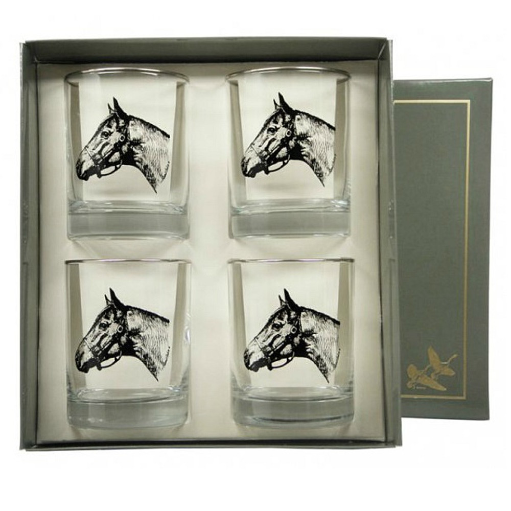 Horse Double Old Fashioned Glass Set   Seabiscuit   Richard Bishop   2026SEA