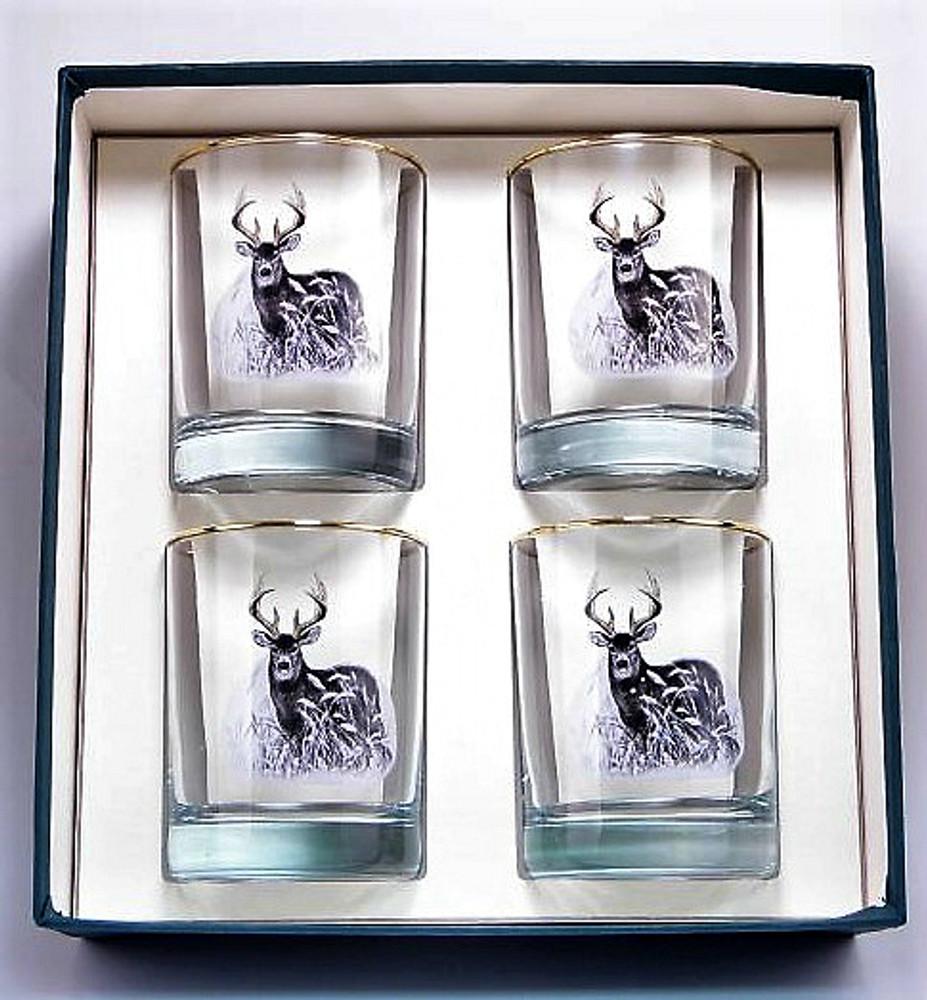 Deer Double Old Fashioned Glass Set | Richard Bishop | 2026DEE