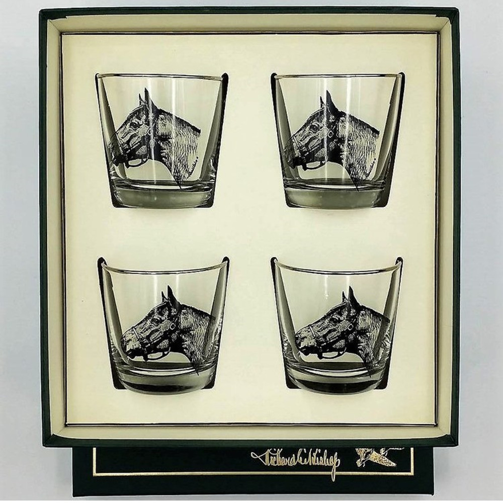 Horse Cocktail Glass Set | Seabiscuit | Richard Bishop | 2025SEA