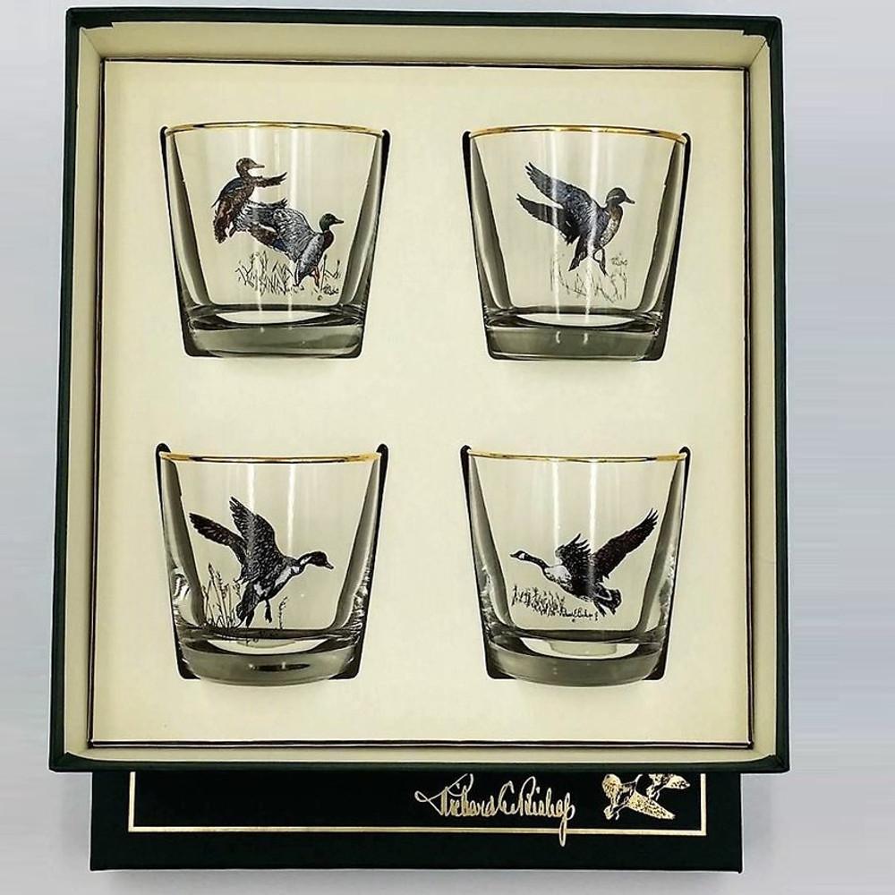 Duck Cocktail Glass Set   Waterfowl   Richard Bishop   2025WAT