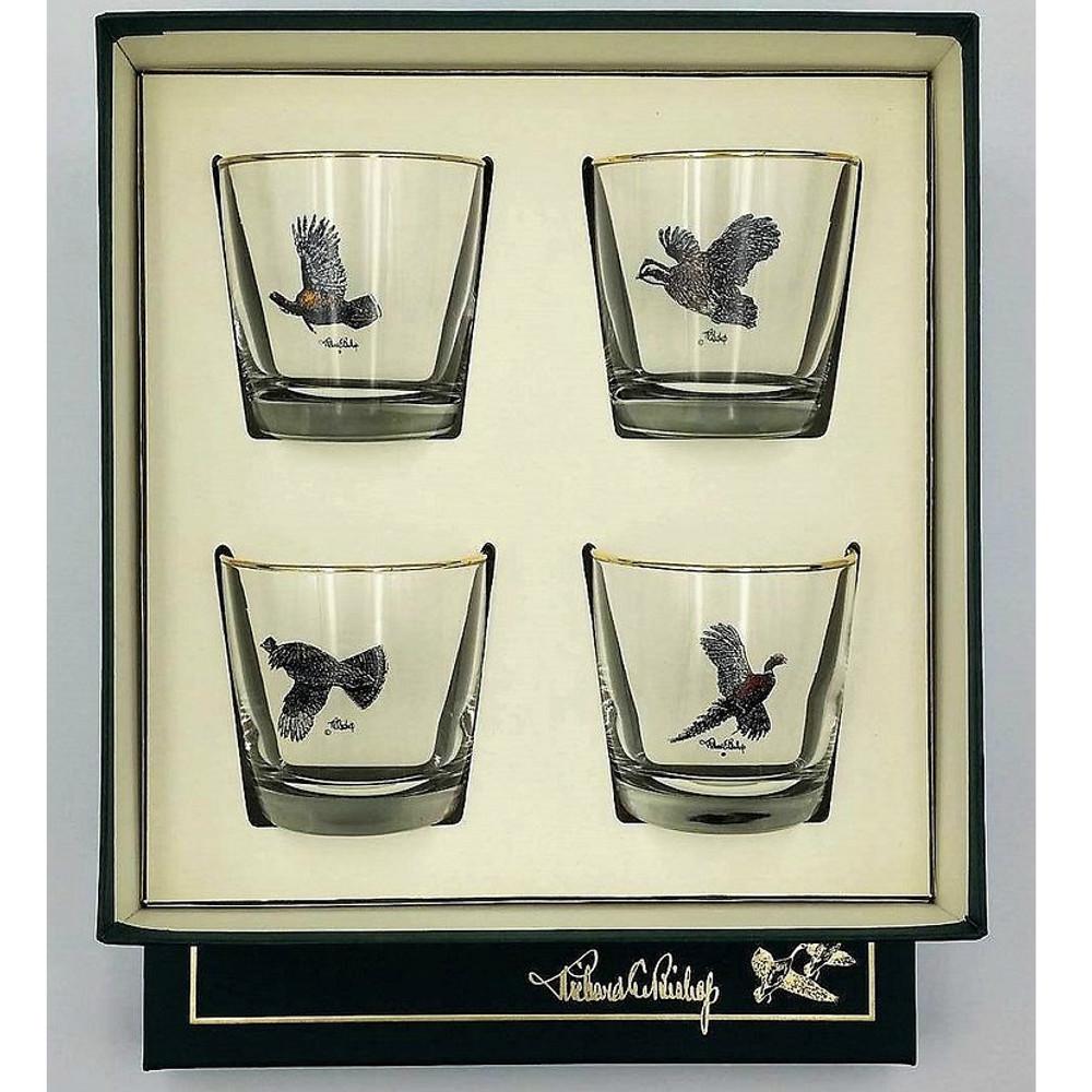 Bird Cocktail Glass Set | Gamebirds | Richard Bishop | 2025GAM