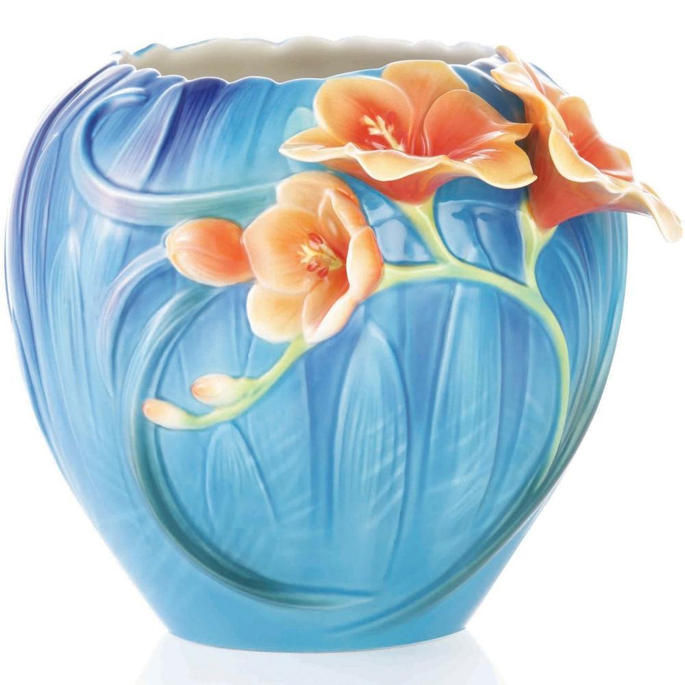 Freesia Sculptured Porcelain Vase | FZ03356 | Franz Collection