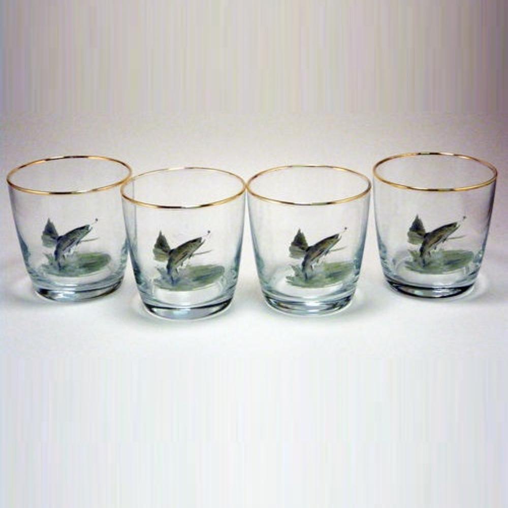 Trout Fish Cocktail Glass Set   Richard Bishop   2025TRO
