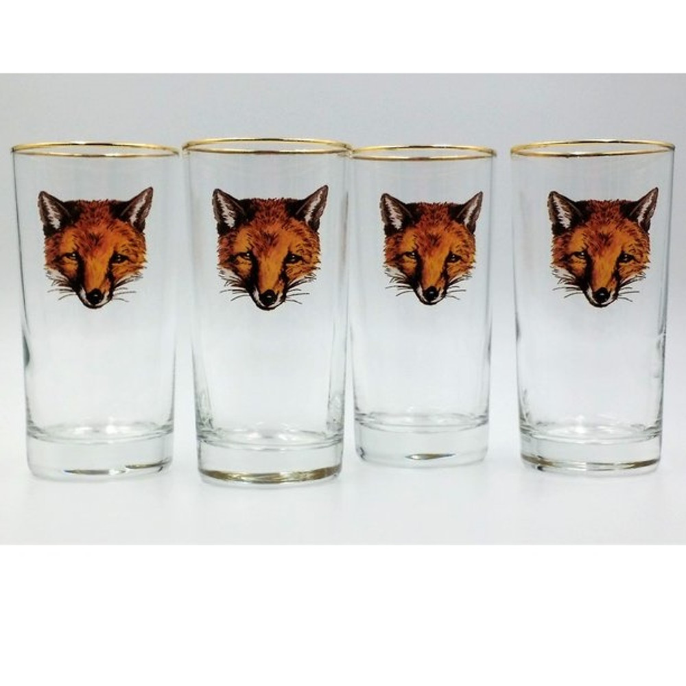 Fox Iced Tea Glass Set   Fox Mask   Richard Bishop   2020FOX