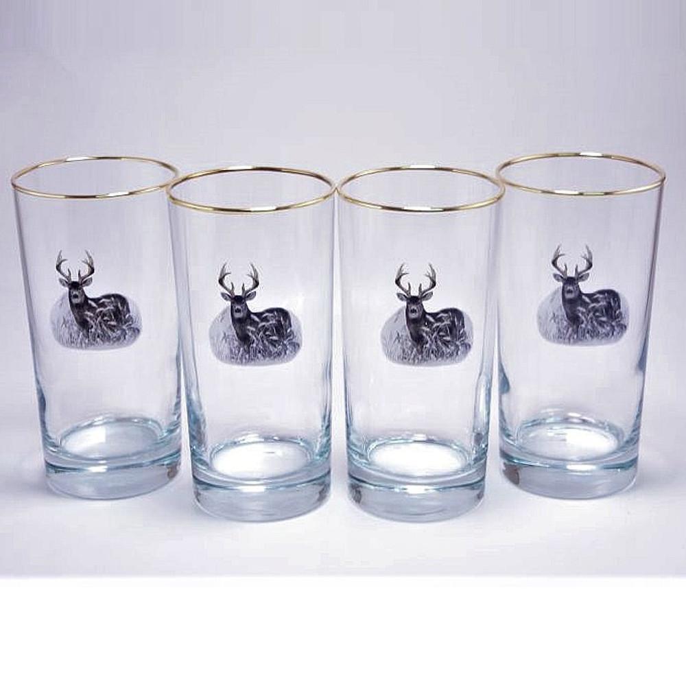 Deer Iced Tea Glass Set   Richard Bishop   2020DEE
