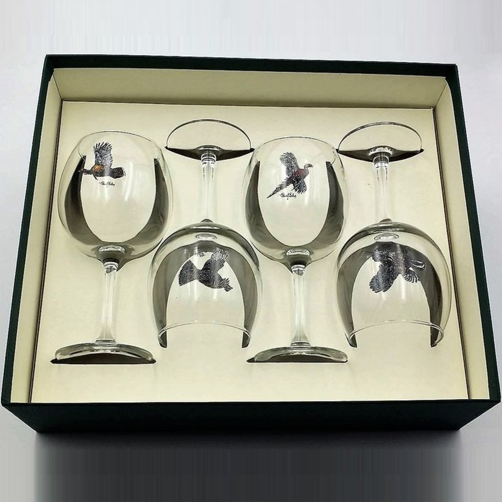 Bird Wine Glass Set   Gamebirds   Richard Bishop   2045GAM
