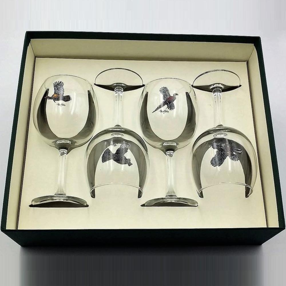 Bird Wine Glass Set | Gamebirds | Richard Bishop | 2045GAM