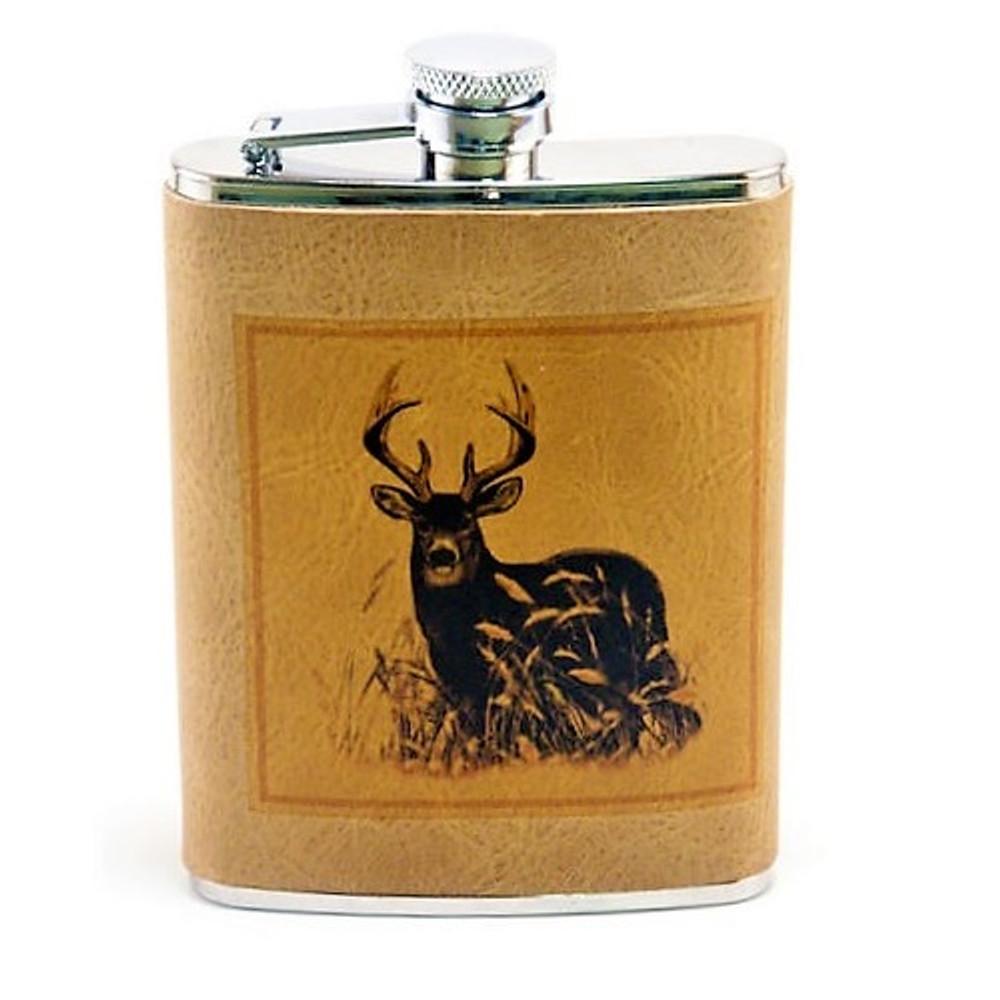 Deer Leather Flask | Richard Bishop | 5010DEE