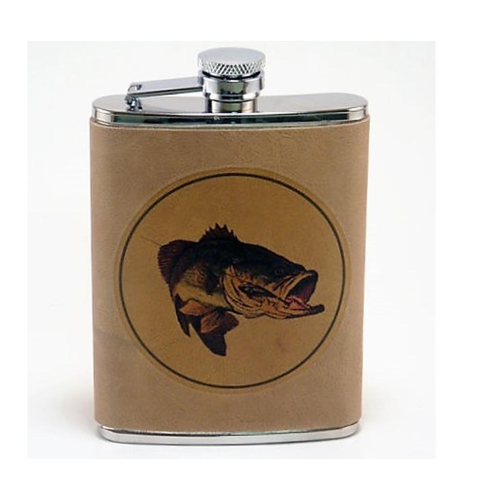 Bass Fish Leather Flask | Fish Flask | Richard Bishop | 5010BAS