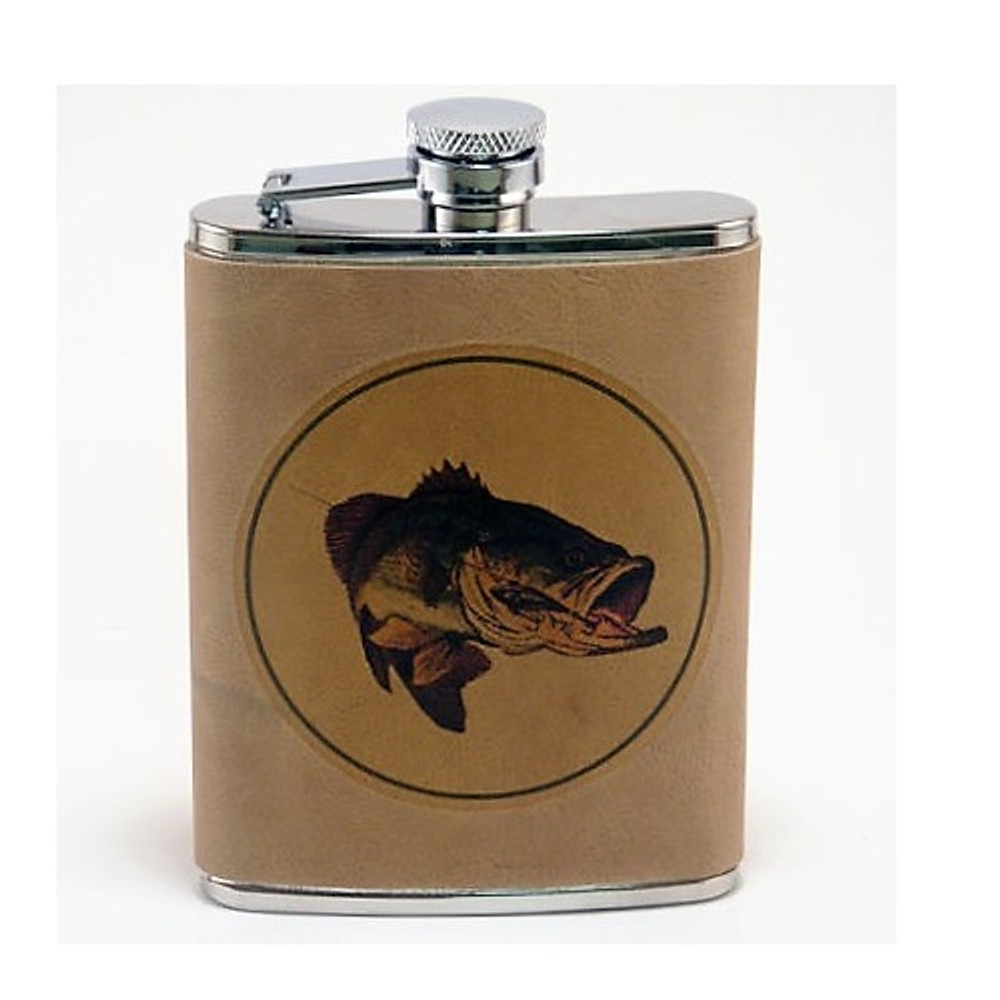 Bass Fish Leather Flask | Fish Flask | Richard Bishop | 5010BAS