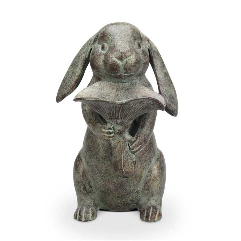 Rabbit with Lotus Leaf Bird Feeder | 34662
